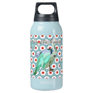 Painted Peacock Turqoise Liberty Bottle 10 Oz Insulated SIGG Thermos Water Bottle