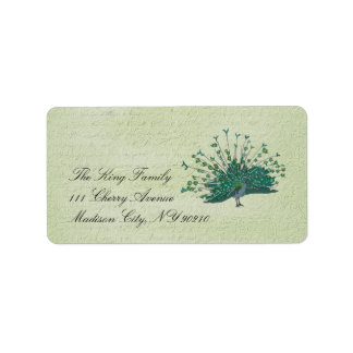 Painted Peacock Vintage  Label
