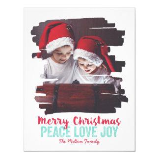 Painted Photo Frame Peace Love Joy Card