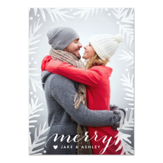 Painted Pine Frame Holiday Photo Card 13 Cm X 18 Cm Invitation Card