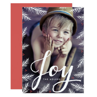 Painted Pine Holiday Photo Card 13 Cm X 18 Cm Invitation Card