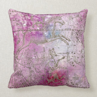 Painted Pink Rose Galaxy Stars Sparkly Unicorn Cushion
