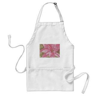 Painted Poinsettia Christmas Flower Standard Apron