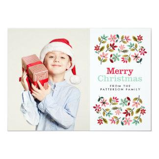 Painted Poinsettias Christmas Card