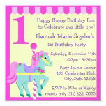 Painted Pony/ Birthday 13 Cm X 13 Cm Square Invitation Card