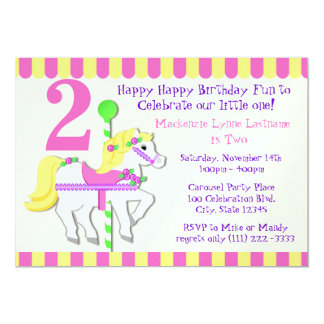 Painted Pony Birthday Party Card