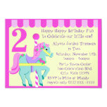Painted Pony/ Birthday Personalized Announcement