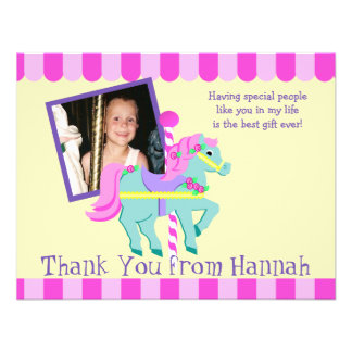 Painted Pony Photo Thank you Flat Card Invites