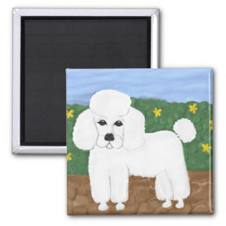 Painted Poodle Magnet