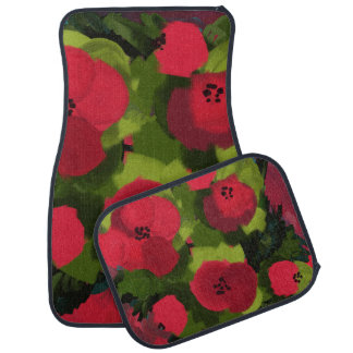 Painted Poppies | Floral Art Car Mat