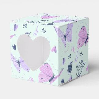 Painted purple Butterflies mint teal background Favour Box