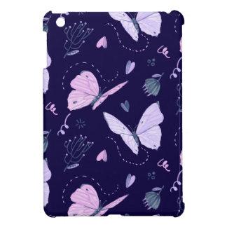 Painted purple Butterflies on night background  pa iPad Mini Case