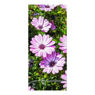 Painted Purple Flowers Rack Card