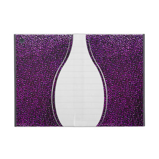 Painted purple gems iPad mini cover
