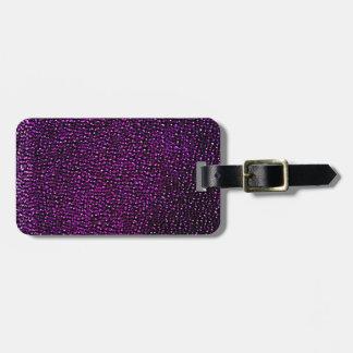 Painted purple gems luggage tag
