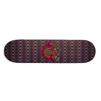 Painted Purple & Red Fuchsias Skateboard Decks