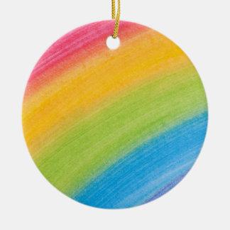 Painted Rainbow Christmas Tree Ornaments