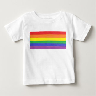 Painted Rainbow Flag Baby T-Shirt