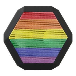 Painted Rainbow Flag Black Bluetooth Speaker