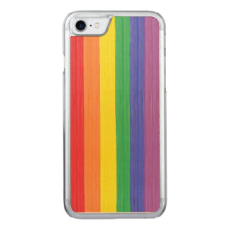 Painted Rainbow Flag Carved iPhone 7 Case