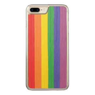 Painted Rainbow Flag Carved iPhone 7 Plus Case