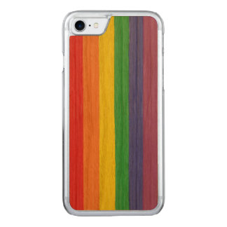 Painted Rainbow Flag Carved iPhone 8/7 Case