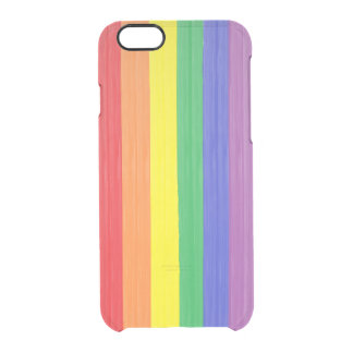 Painted Rainbow Flag Clear iPhone 6/6S Case