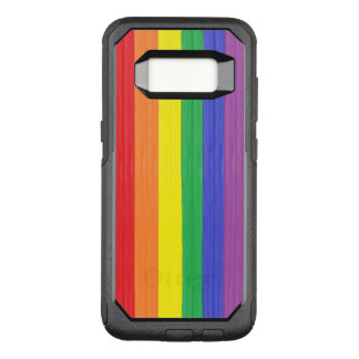 Painted Rainbow Flag OtterBox Commuter Samsung Galaxy S8 Case