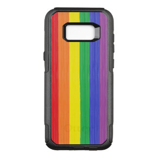 Painted Rainbow Flag OtterBox Commuter Samsung Galaxy S8+ Case