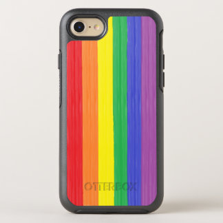 Painted Rainbow Flag OtterBox Symmetry iPhone 8/7 Case