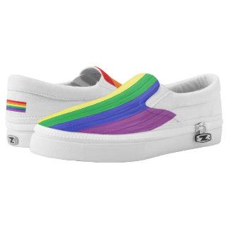 Painted Rainbow Flag Slip-On Shoes