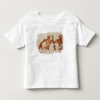 Painted relief depicting a flute player toddler T-Shirt