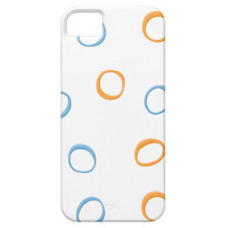 Painted Retro Circles blue 4 ID Case iPhone 5 Cases