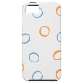 Painted Retro Circles blue 4 ID Tough iPhone 5 Case