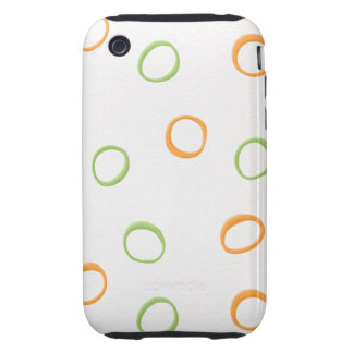 Painted Retro Circles green 3G/3GS Tough Tough iPhone 3 Covers