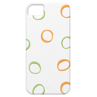Painted Retro Circles green 4 ID Case iPhone 5 Case