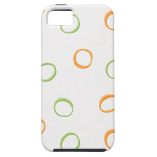 Painted Retro Circles green 4 ID Tough Tough iPhone 5 Case