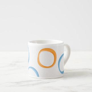 Painted Retro Circles orange blue Espresso Mug