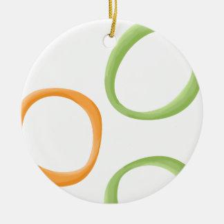 Painted Retro Circles orange green Ornament