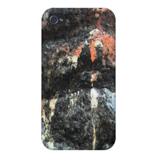 Painted Rock Face iPhone 4/4S Cases