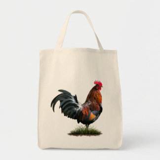 Painted Rooster Grocery Bag