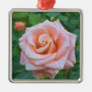 Painted Rose Christmas Tree Ornament