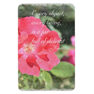 Painted Rose Floral Garden Rumi Quote Magnet