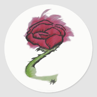 Painted Rose Sticker