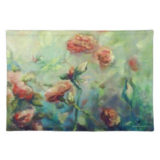 Painted roses placemat