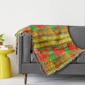 Painted Saguaro Custom Throw Blanket