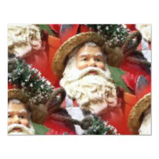 Painted Santa Invites