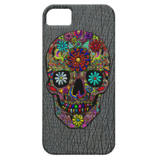 Painted Skull Floral Art iPhone 5 Covers