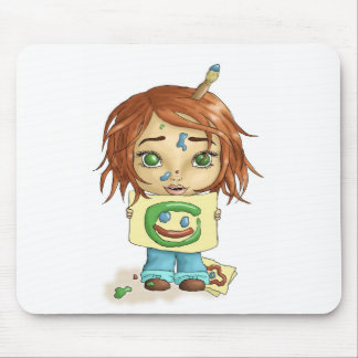 Painted Smile Mouse Pad