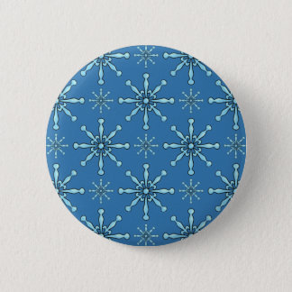 Painted Snowflakes 6 Cm Round Badge
